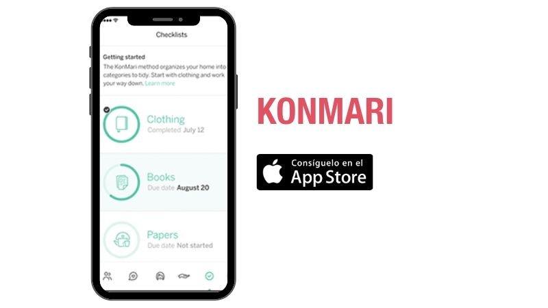 Manten tu casa organizada con la app del método Konmari