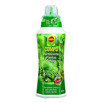 Botella de Fertilizante Compo para plantas verdes