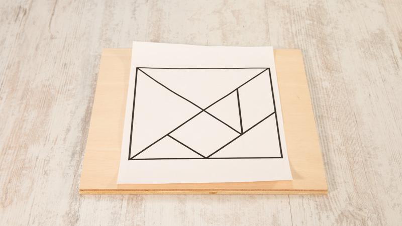 Plantilla para hacer un tangram casero