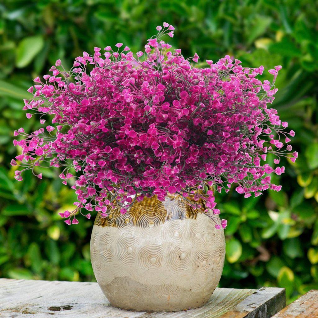 Flores de exterior artificiales