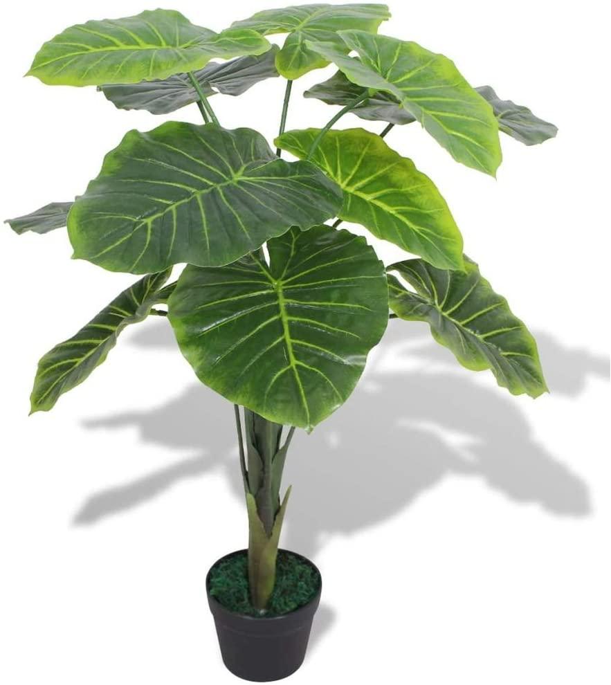 Planta artificial de hojas grandes