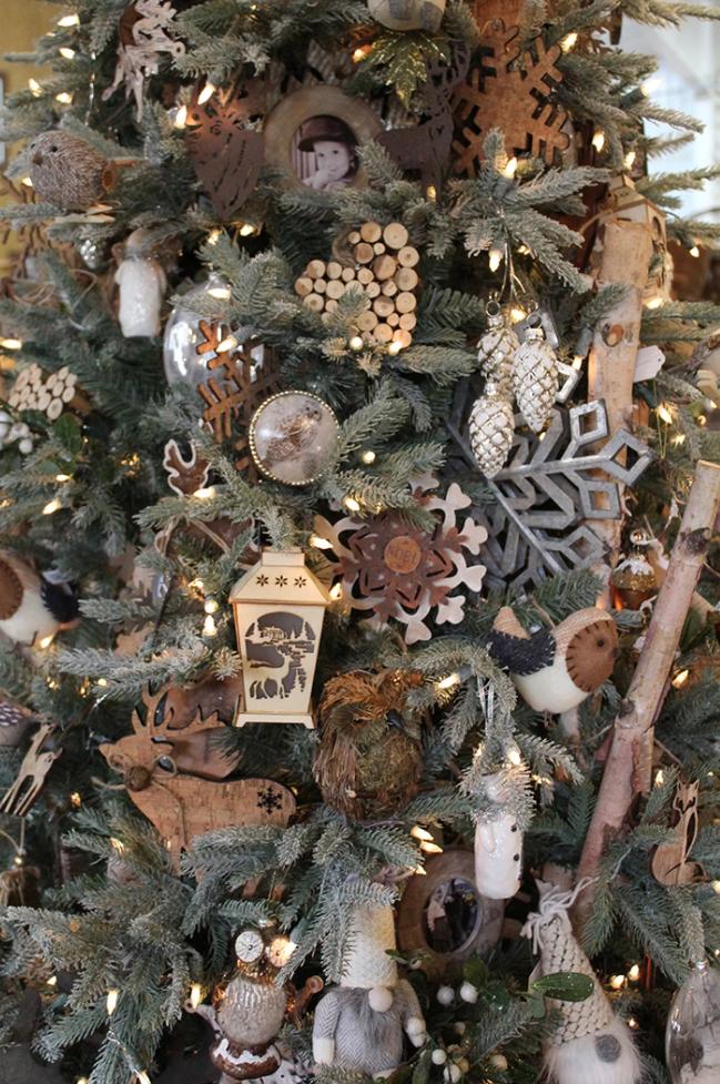 Árbol de Navidad de estilo rústico