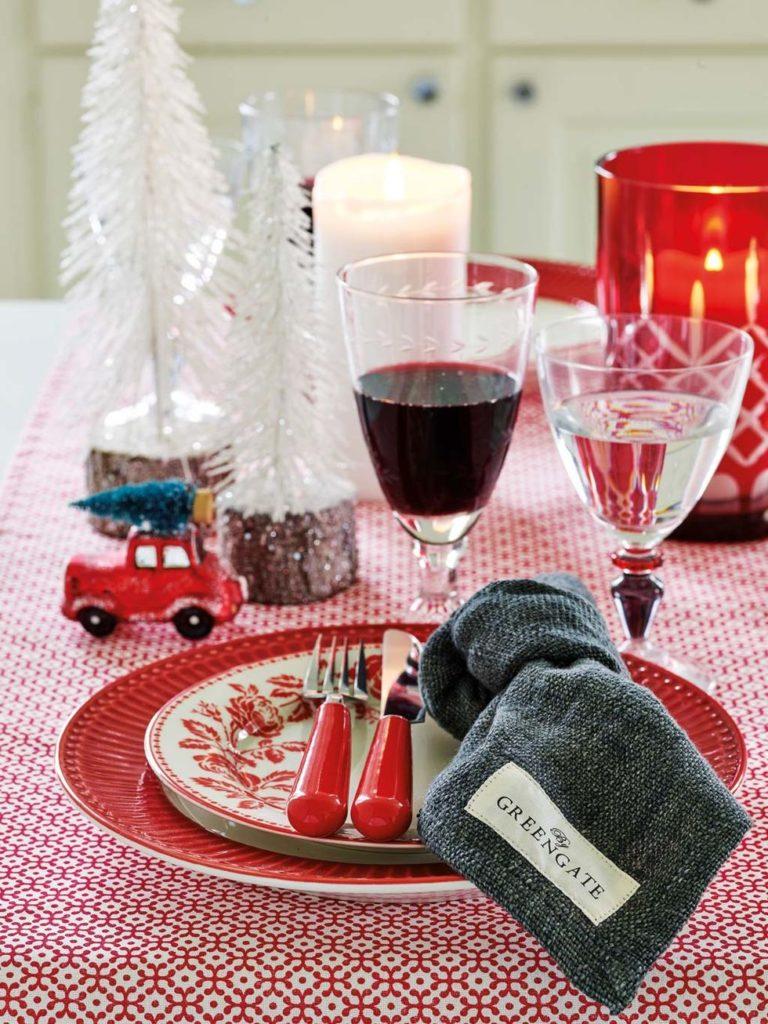 Mantel con motivos navideños
