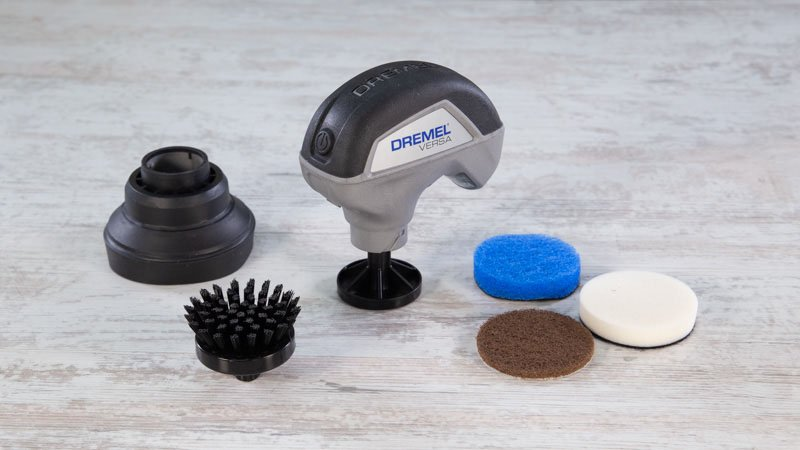 Limpiadora  multiusos dremel versa con el kit de accesorios