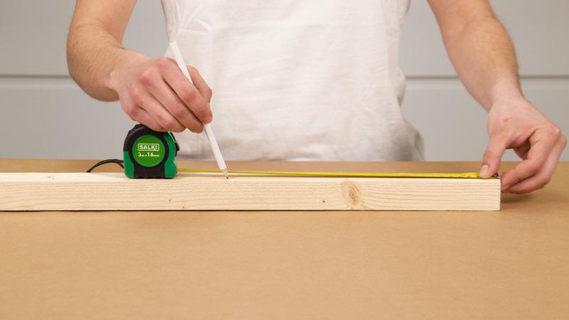 Medida de listón madera