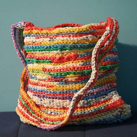 bolso de crochet grande de diferentes colores para regalar el día de la madre