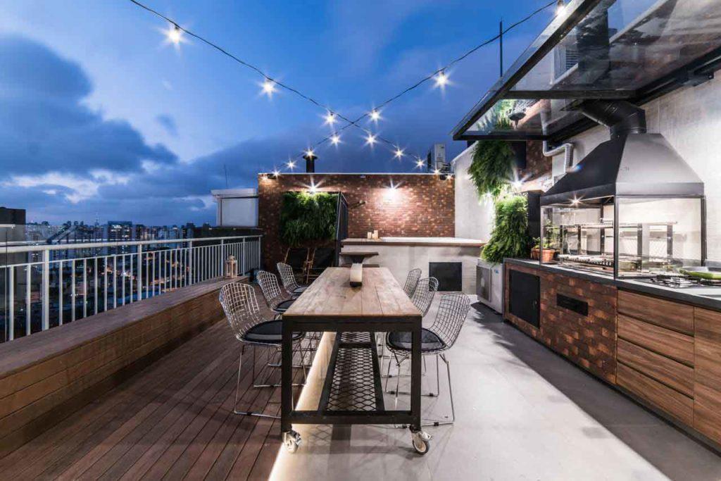 Redecora la terraza de la azotea de estilo industrial