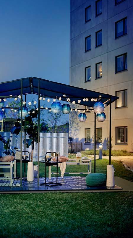 Jardín con tierra portátil para que puedas redecorar tu terraza y poder hacer deporte